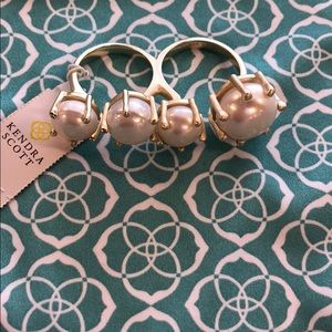 NWT Harriet Ring gold and pearls